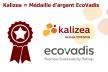 Kalizea médaille d'argent EcoVadis